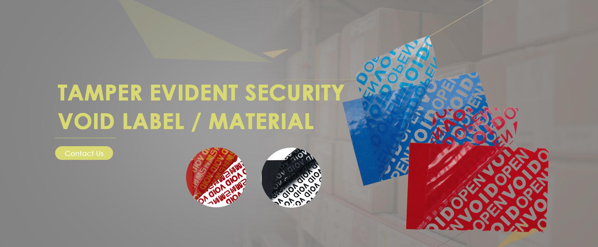 Tamper Evident Void Material & Label